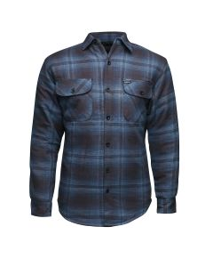 LUCKY 13 SHOCKER LINED FLANNEL - NAVY/BLACK